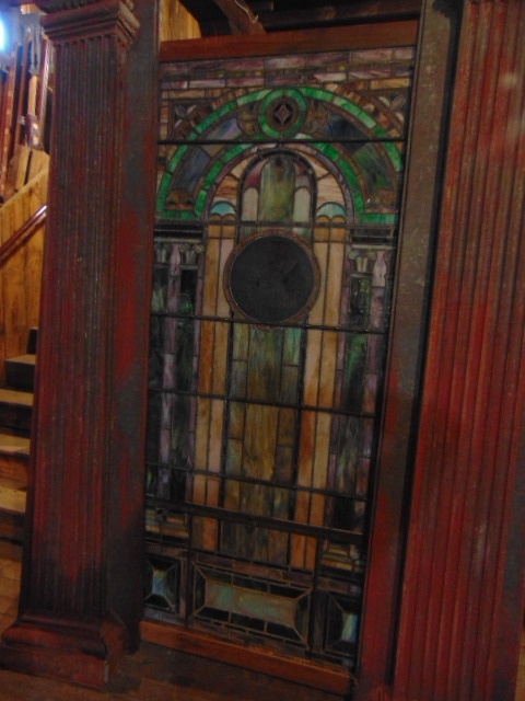 Church Rose Window Antique Painted - Antique Windows