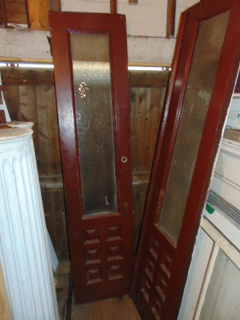 Antique exterior doors for Narrow windows for sale
