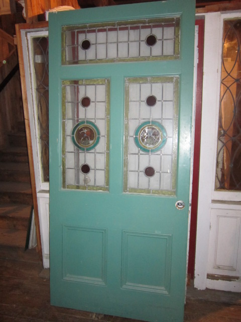 Salvage Architectural Inc Exeter Nh English Stained Glass Doors