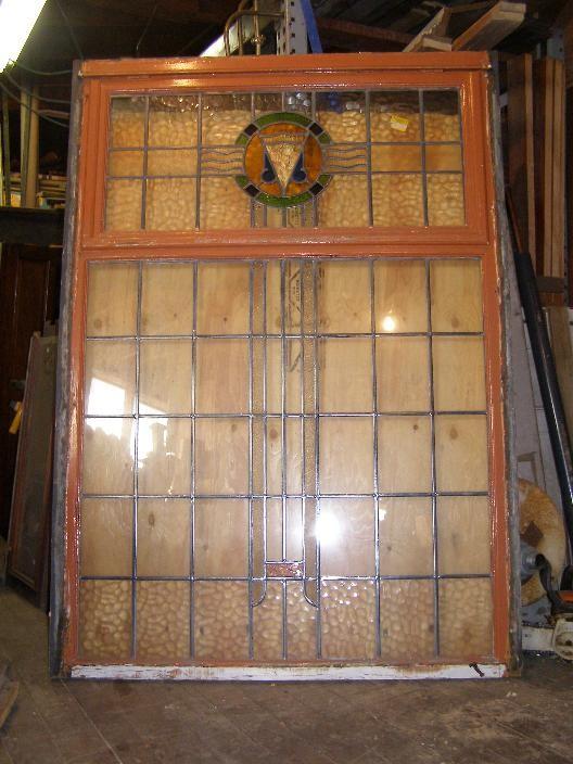 Art Deco Antique Stained Glass Window - Antique Windows
