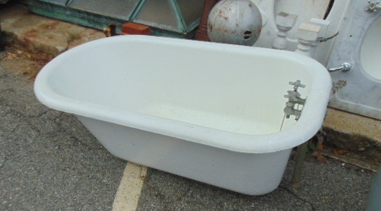 Antique Short Claw Foot Tub 54 Inches