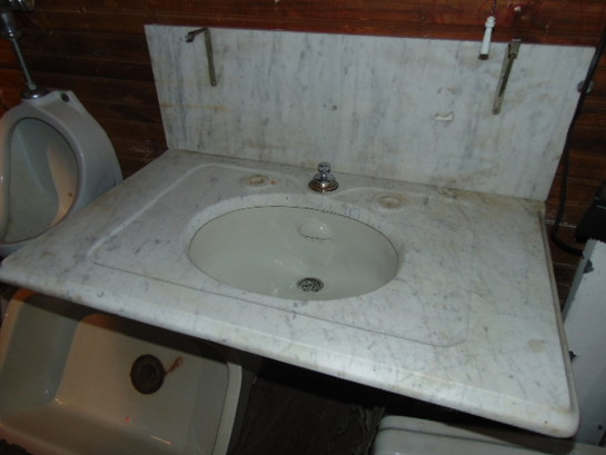 Large Antique Marble Sink Top