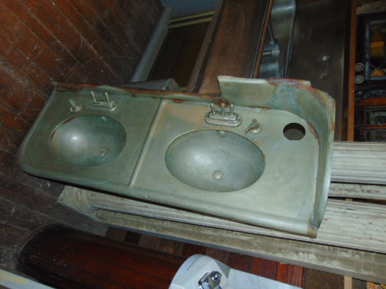 Large Metal Railroad Sink Antique