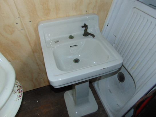 Salvaged Pedestal Sink