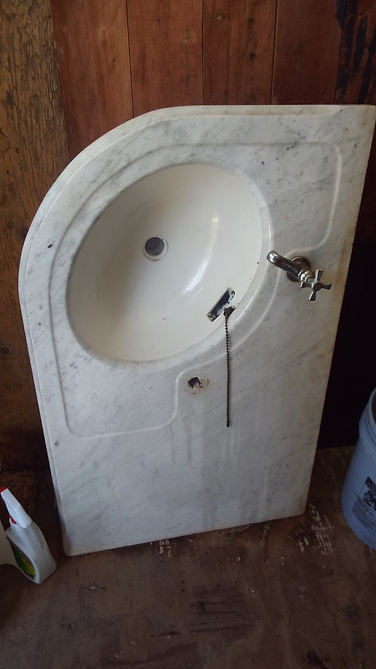 Pedestal Sink With Counter Space : 14 Marble Corner Sink with Counter space 25 x 39