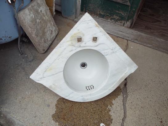 Antique Corner Marble Sink