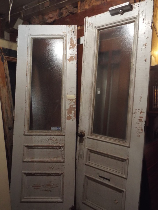 X14 Double Door 56 x 90 with 18\u0027\u0027 Transom Plus Frame & Antique Exterior Doors