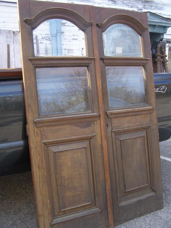 Sold 31 Oak Victorian Beveled Glass Doors 55 X 84