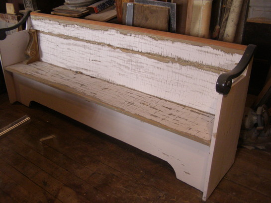 Antique Colonial Pew