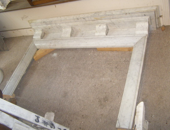 Square Opening Carrara Marble Mantel