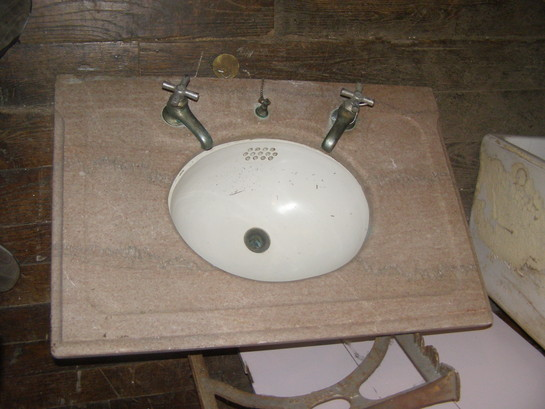 Pink Marble Wall Hung Sink