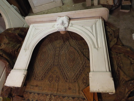 Victorian White Marble Mantel