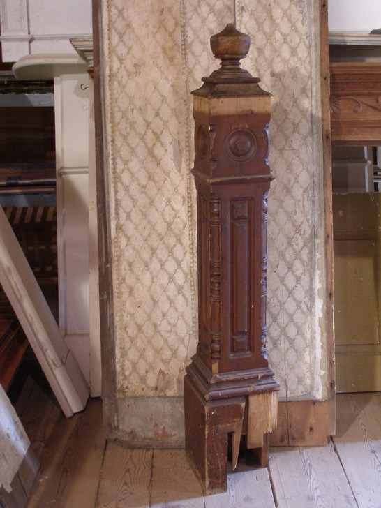 Victorian Box Style Newel Post