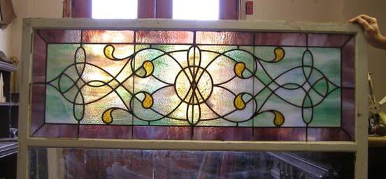 Antique Stained Glas Picture Window